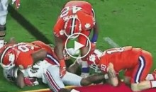 Clemson Player Deliberately Caresses Ohio State Player's Butt And Genitals During Fiesta Bowl Game (Video)