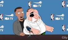 Peter Does His Best Riley Impression During Stephen Curry's Cameo On Family Guy (Video)