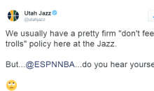 Utah Jazz Twitter Acct Throws Shots at ESPN For Comparing Westbrook to Stockton & Malone