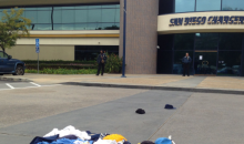 Chargers Fans Begin Leaving Their Gear Outside Team Headquarters (PIC)