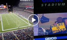 "Pats Fans Chant ""Roger, Roger!"" Mocking Commisioner, Troll Him On Jumbotron"