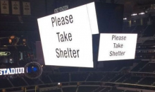 Tornado Warning Issued at Stadium Following Cowboys' Loss; Fans & Players Stuck