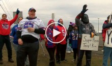 Bills Mafia Tailgate One Last Time As Players Arrive to Clean Out Their Lockers (Video)