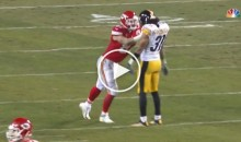 Chiefs' Travis Kelce Takes a Cheap Shot at Steelers Player After The Play (Video)