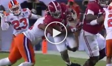 Bama RB Bo Scarbrough Suffered Broken Bone in His Leg During National Championship Game (Video)