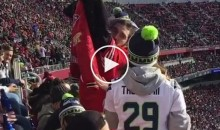 Drunk 49ers Fan Reminds Seahawks Fans They Only Have One Championship & 49ers Have Five (Video)
