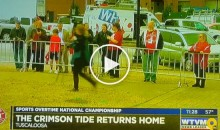 Crimson Tide Players Return Home to a Rousing Crowd of 12 Bama Fans After Title Loss (Video)