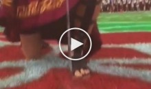 USC Drum Major Just Barely Misses Stabbing Himself In The Foot With a Sword (Video)