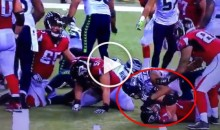 Video Shows Seahawks DE Michael Bennett Gouging The Eyes of Falcons OL Ryan Schrader (Video)