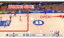 Louisville Tricked Duke Into Defending The Wrong Basket (Video)