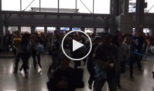 Watch as Cowboys & Packers Fans Stampede Once Stadium Doors Open (Video)