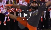 Christian Wilkins Shows Off His Stripper Moves After Clemson Beats Bama (Video)