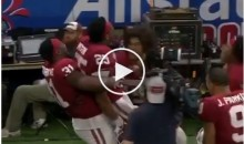 Oklahoma Players Celebrated TD By Appearing To Mock Girl Getting Punched By Joe Mixon (Video)