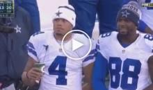 Dak Prescott & Dez Bryant's Reaction To Terrible Play By Mark Sanchez Is Hilarious (Video)