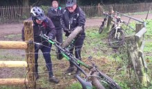 Three British Guys Pulling Their Bike From an Electric Fence is HILARIOUS (Video)