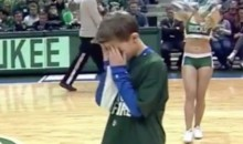Watch: Kid Immediately Regrets Decision to Participate in Milwaukee Bucks Dance Contest (Video)