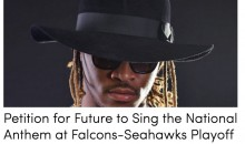 Falcons Fan Starts Petition To Have Future Sing Anthem Before Game Vs. Seahawks