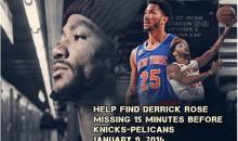 Knicks Fan Starts GoFundMe To Help Find Missing Derrick Rose