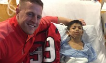 JJ Watt Visits Child Who Had Jersey Cut Off In Car Crash To Give Him New One (Video)
