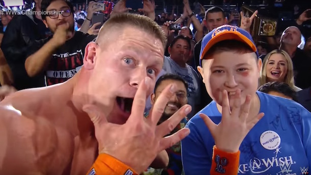 john cena make-a-wish foundation royal rumble victory