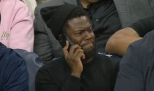 Kevin Hart's Reaction to DeAndre Jordan Free Throw Airballs Pretty Much Says It All (Video)