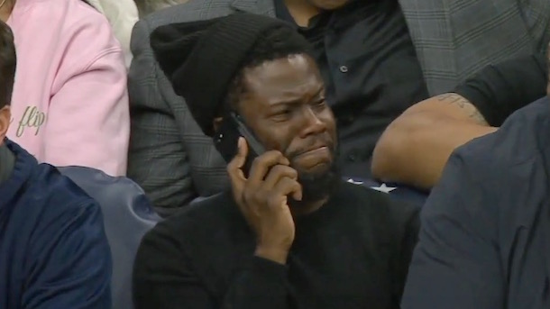 kevin hart reacts to deandre jordan free throw airball