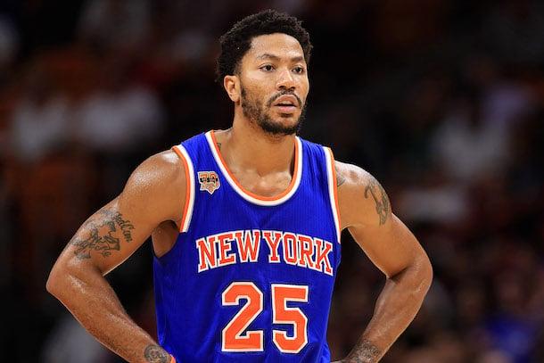 Knicks Twitter Throws Shade at Derrick Rose