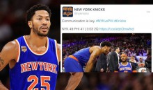 Knicks Twitter Feed Throws Shade at Derrick Rose Over Monday's Absense (Tweet)