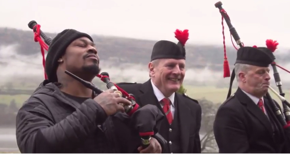 Marshawn Lynch, Skittles and Scotland - what's not to love?
