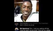 Someone Created an Antonio Brown Facebook Live Feed With Him Getting Trolled By Patriots (PIC)