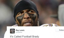 Ray Lewis Takes Shot At Tom Brady Mid-Game & Gets Reminded About His Past Crime (TWEETS)