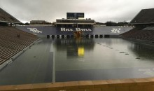 After Two Days of Severe Weather, You Can Now Swim For a Touchdown at Rice Stadium (PICS)