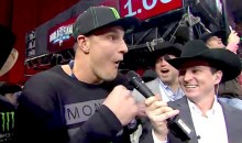 Gronk Convinces Best Friend to Ride Bull, Best Friend Immediately Regrets Listening to Gronk (Video)