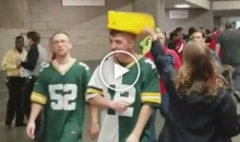 Happy Falcons Fan Punks Packers Fans By Knocking Off Their Cheesehead Hats (Videos)