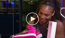 Michael Jordan Gave Serena Williams Custom Jordans For Her 23rd Grand Slam Win (Video)