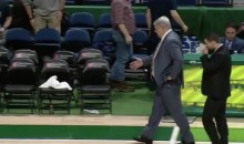 Siena Basketball Coach Gives Invisible Handshakes When Opponents Bail Following Brawl (Video)