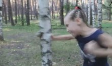 9-Year-Old Girl Punches Down a Tree With Her Bare Hands (Video)