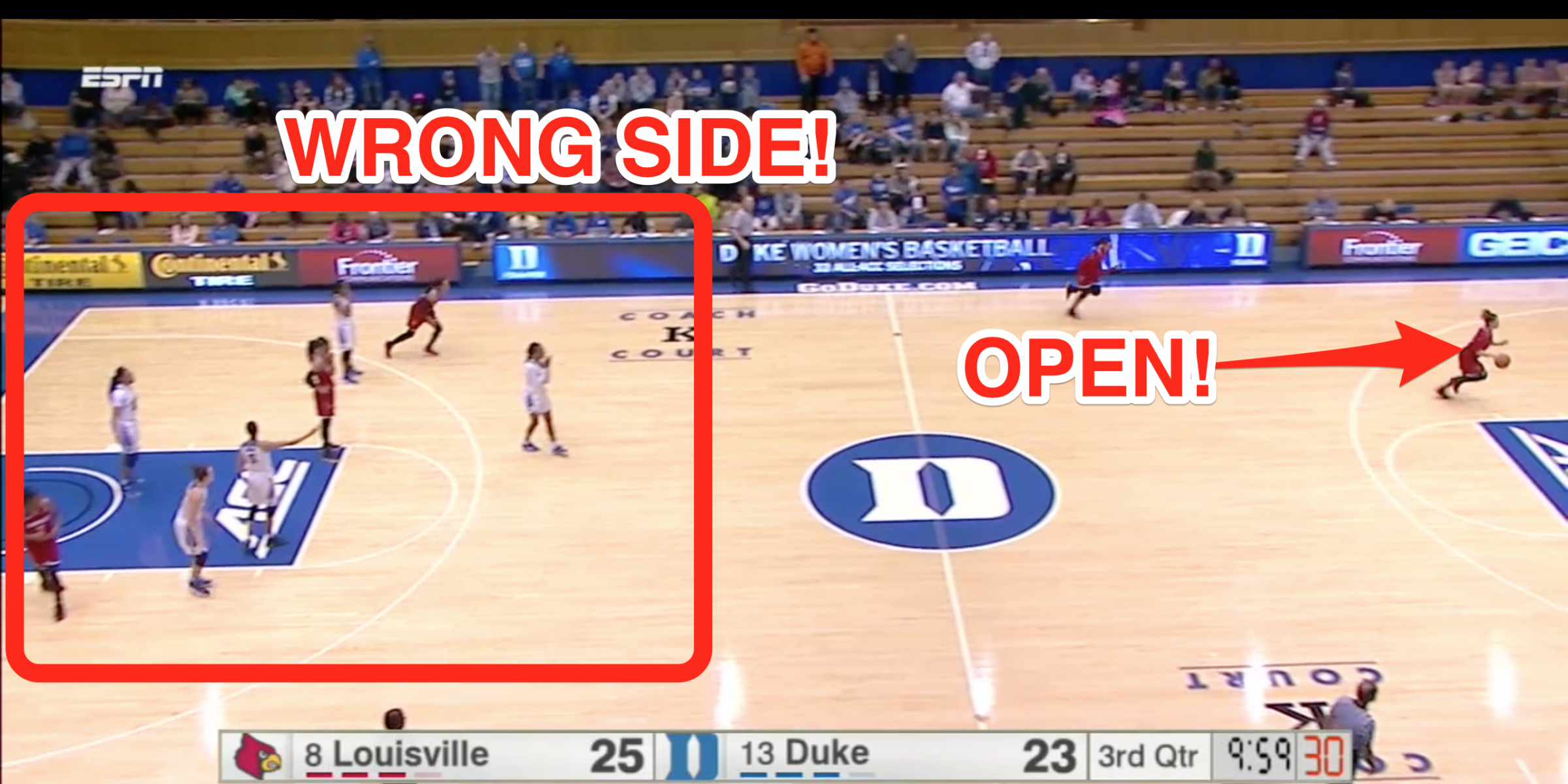 Louisville Tricked Duke Into Defending The Wrong Basket