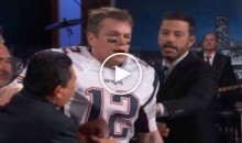 Matt Damon Invades 'Jimmy Kimmel Live' Disguised as Tom Brady (Video)