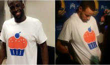 Steph Curry & Draymond Green Troll OKC Fans By Wearing Cupcake Shirts After Game (Video)