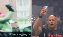 Watch Rob Gronkowski Snatch a Budweiser Out of Mid-Air Like Stone Cold Steve Austin (Video)