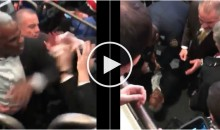 Video of Knicks Fans Pleading With Charles Oakley to Stop Fighting With Police & Security (Video)