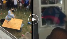 Bills Fans Training Camp Has Begun & Tables, Glass Windows Are Being Destroyed (Videos)
