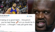 Warriors' Javale McGee & TNT's Shaq Throw Shots at Each Other During Heated Twitter Exchange (TWEETS)