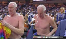Bill Walton Goes Topless Mid-Broadcast, Horrifies Woman In Crowd (Video)