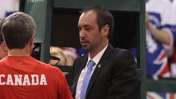 Canadian-Tennis-Player-Denis-Shapovalov-Nails-Umpire-Arnaud-Gabas-in-Face-with-Ball