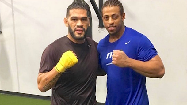 Greg Hardy MMA training Antonio Silva