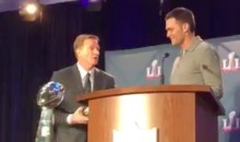 Brady and Goodell Share Awkward Exchange at Super Bowl MVP Ceremony (Video)