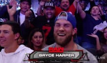 Bryce Harper Pissed Off D.C. Fans by Wearing a Cowboys Hat on 'Monday Night Raw' (Video)