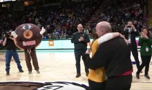 Not Only Did This Siena Fan Make a Half-Court Shot, But She Also Got an Engagement Ring (Video)